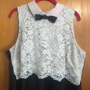 Eloquii Dresses - Eloquii dress with collar, bow, and lace detail